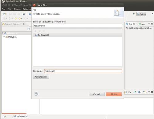 Ubuntu 12.04 Eclipse New C++ Project 5
