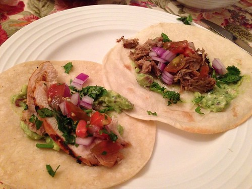 Pulled Pork and Grilled Chicken Tacos