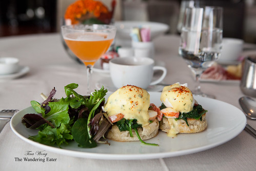 Lobster benedict with the Ambrosiana cocktail