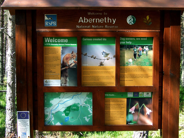 Abernethy Nature Reserve sign