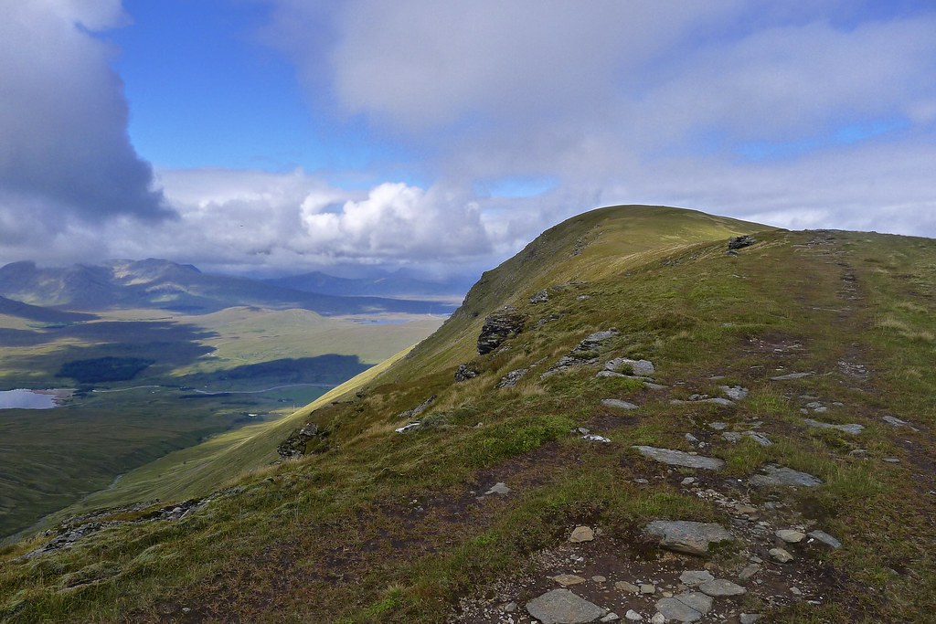The long ridge of Beinn Achaladair