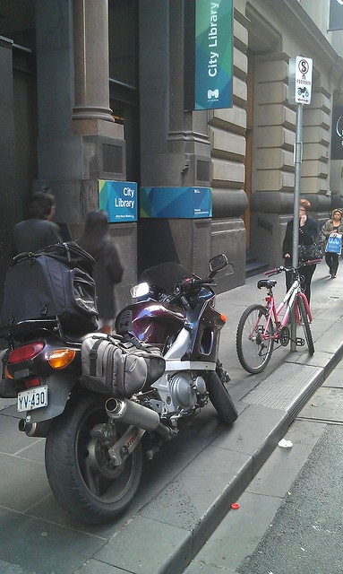 Parking where you shouldn't, Flinders Lane