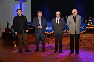 Brassbandfestivalen 2013 - Årets domare: Franz Matysiak, Tom Brevik, David Read och Tom Brevik (Foto: Olof Forsberg)