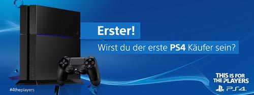 Sei der erste PS4 Käufer Deutschlands