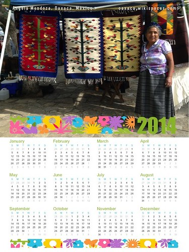 2014 Calendar: Angela Mendoza and Tree of Life Rugs, Oaxaca