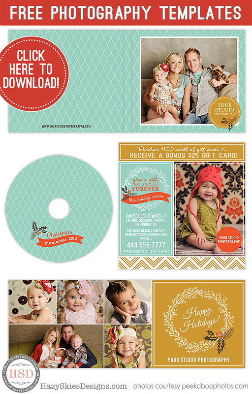 Custom Card Template advertising cards templates : ... marketing templates for photographers free christmas templates www