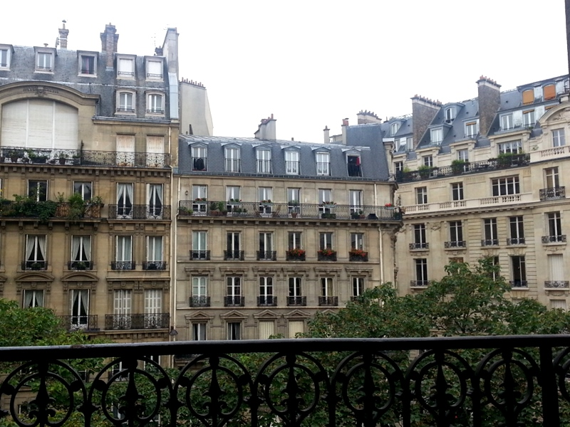 Paris balcony view