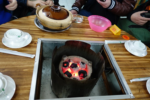 Charcoal Stove for our Mutton Hotpot at Da Xiang Li, Guangzhou.