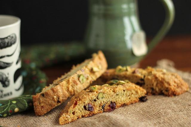 Gluten-free Cranberry-Pistachio Biscotti