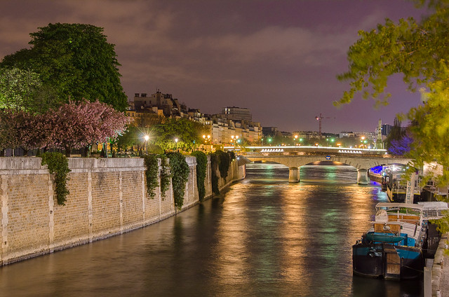 A look down at the reflections on the River Seine.