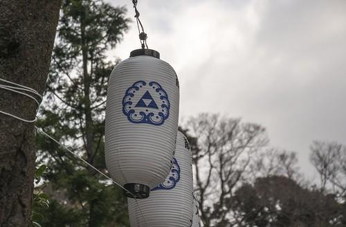 江島神社 紋提灯