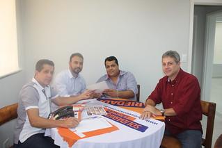Netinho Nogueira e Renato Moreira visitam sede estadual do partido