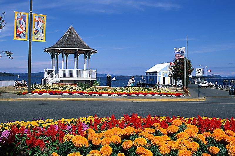 Band Stand on the Waterfront in Sidney, Greater Victoria, Vancouver Island, British Columbia, Canada