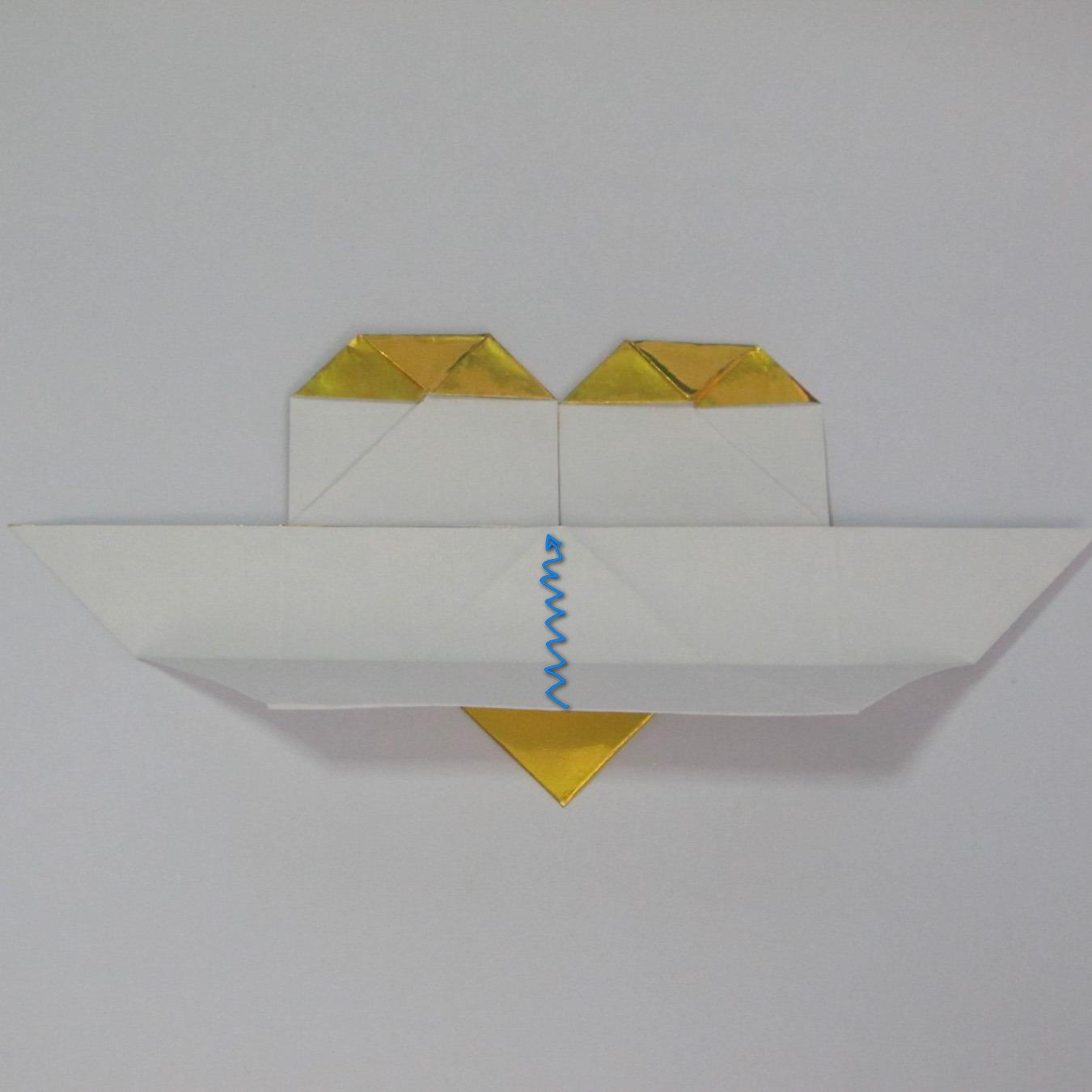 วิธีพับกระดาษเป็นรูปหัวใจติดปีก (Heart Wing Origami) 022