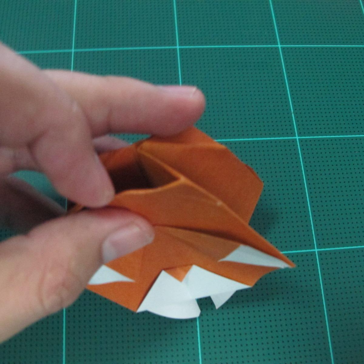 การพับกระดาษเป็นที่คั่นหนังสือหมีแว่น (Spectacled Bear Origami)  โดย Diego Quevedo 027