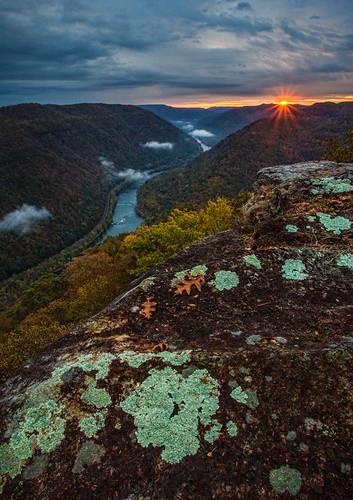 sunrise nps westvirginia grandview nationalparkservice nrg newriver newrivergorge newrivergorgenationalriver