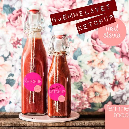 Hjemmelavet ketchup med og uden sennep