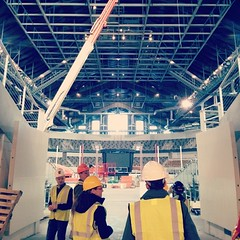 Touring the Coliseum with @bdmdarchitects #colliseumrenovation #indy