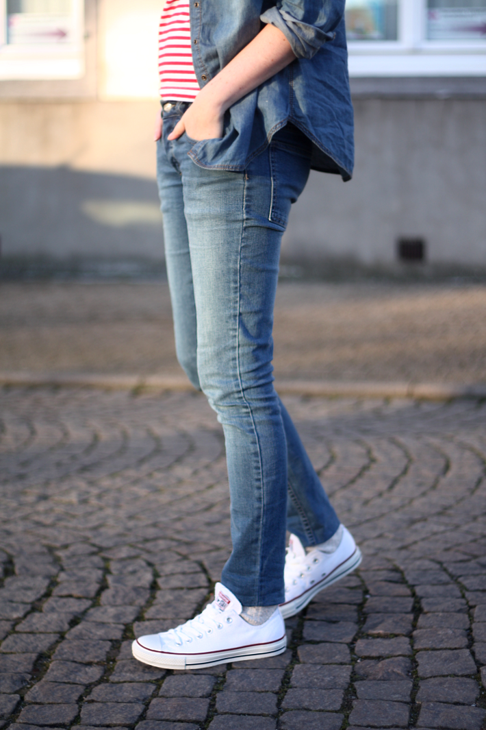 Classics Blue Jeans White Converse - THE STYLING DUTCHMAN.