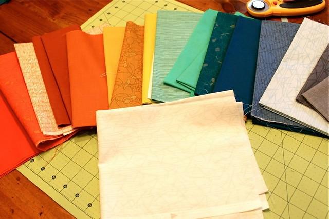 Fabrics for Rainbow Starflower