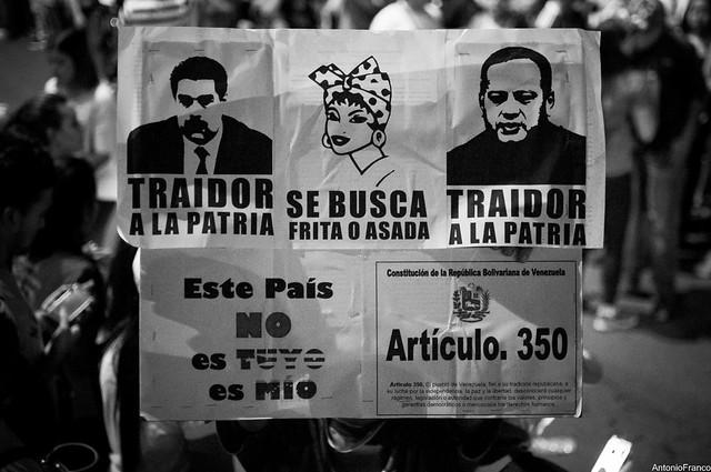 Protestas en Anzoategui - Venezuela - 17-04-14
