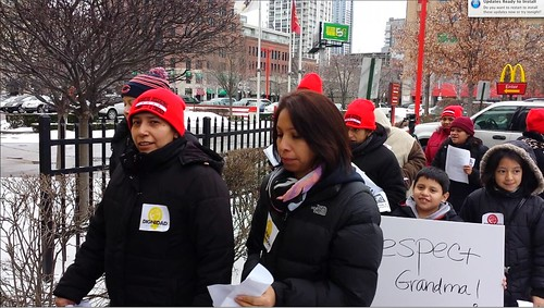 Protesting verbal abuse at a Chicago McDonalds