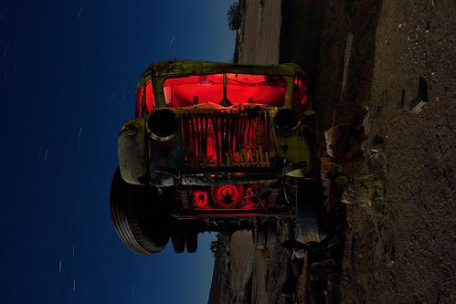 crazy otto's schoolbus. mojave desert, ca. 2014.