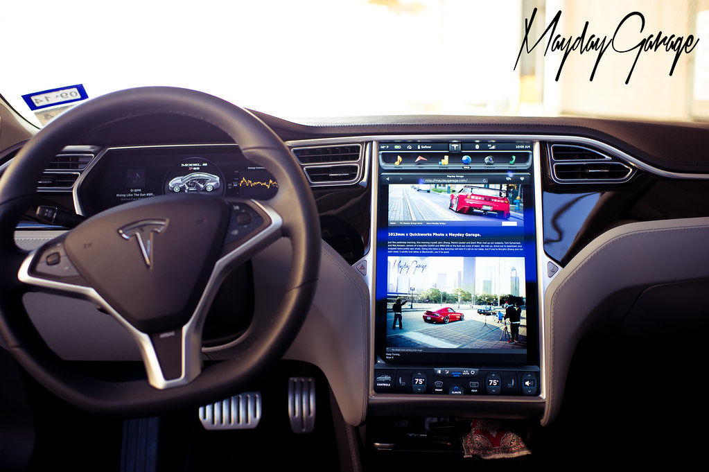 While in a Tesla...