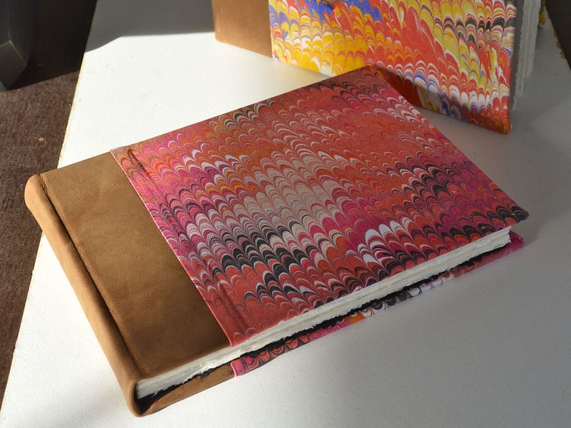 kidskin and marbling watercolour book