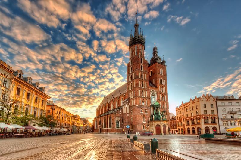 La vieille ville de Cracovie fourmille d'hébergement pour tous les budgets. Photo de Nico Trinkhaus.