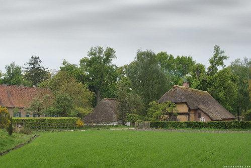 Farmhouses in Bokrijk open air museum.
