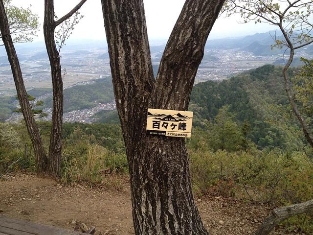 百々ヶ峰 山頂標識