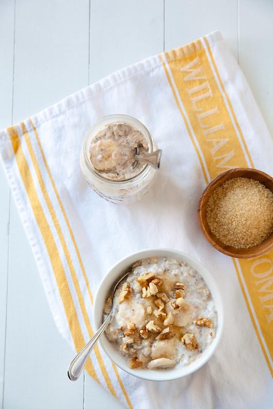 Banana Cream Pie Overnight Oatmeal | Annie's Eats