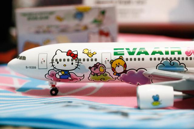 長榮航空 Hello Kitty 雲彩機模型特寫