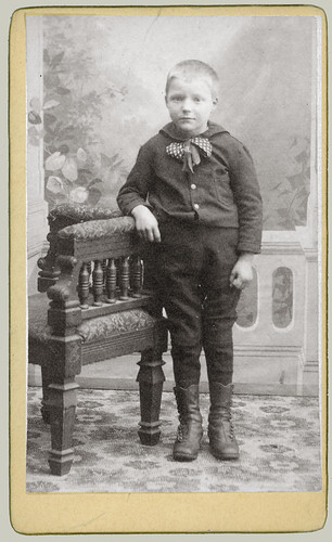 CDV boy and chair