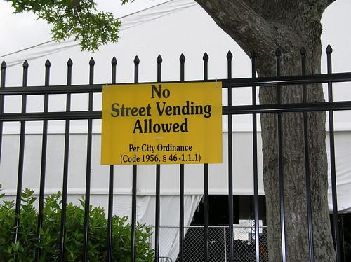 No Street Vending