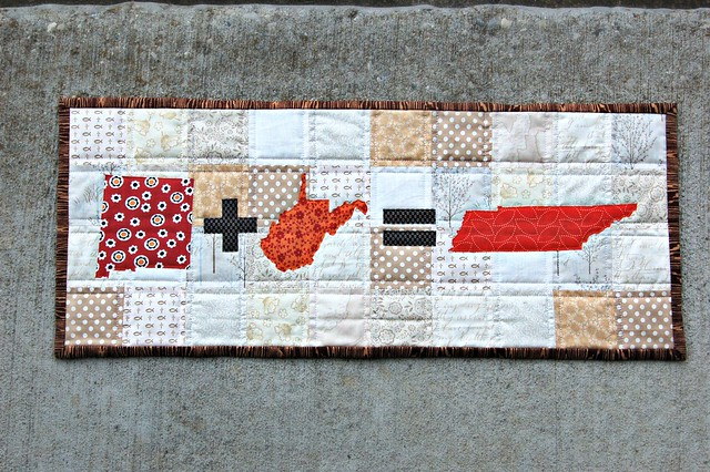 State Math Love Quilted Wall Hanging