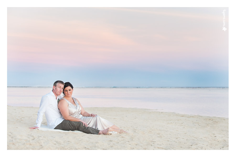 Seaward. sunset, Rarotonga, wedding photos