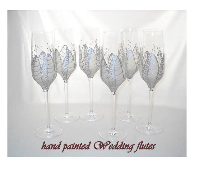 hand painted Wedding Crystal