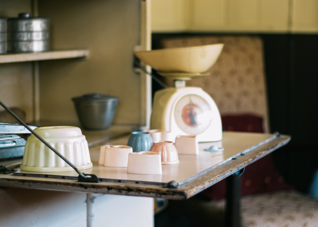 vintage baking supplies