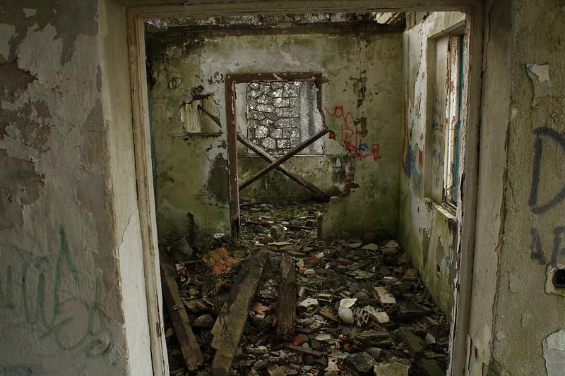 Interior del alojamiento de tropa