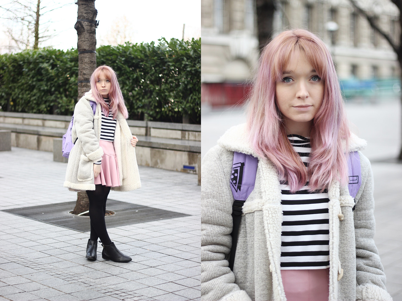 pastel-hair-double photo shearling-coat
