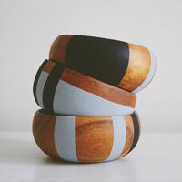 12 Minute DIY // Color Block Wood Bowls
