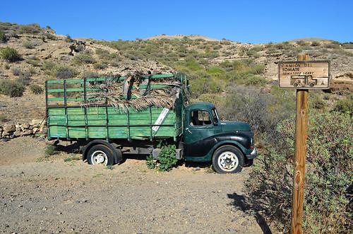 Tomato truck, San Blas Barranco, San Miguel de Abona, Tenerife