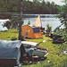 Old postcard Camp Sunne Sweden 60s