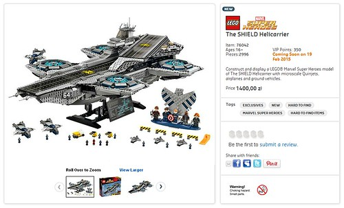 76042 The SHIELD Helicarrier 1400