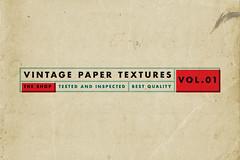 Vintage paper textures volume 01