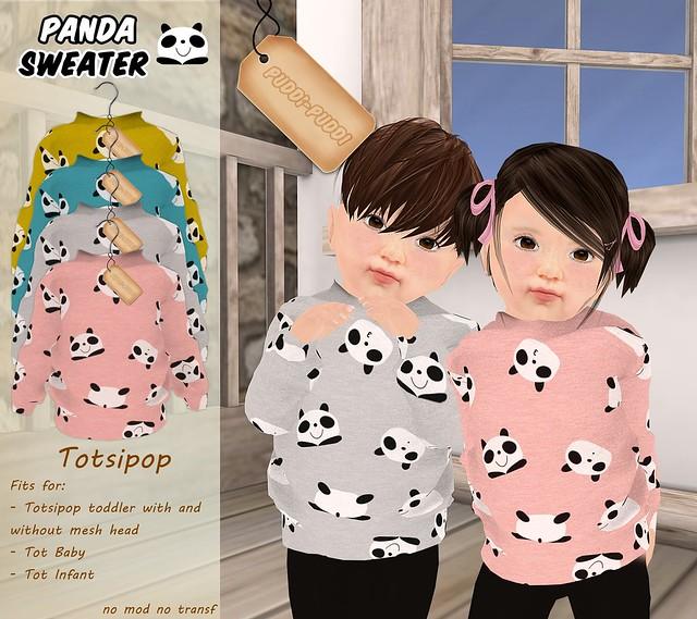 ::Puddi-Puddi:: Totsipop Panda Sweater