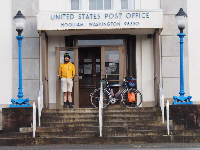 Neil and Stormy Skies at Hoquiam Post Office