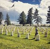 Custer National Cemetery at the Little Bighorn Battlefield - humbling place to be. Grateful for those who served! #custernationalcemetery #littlebighornbattlefield #littlebighornnationalmonument